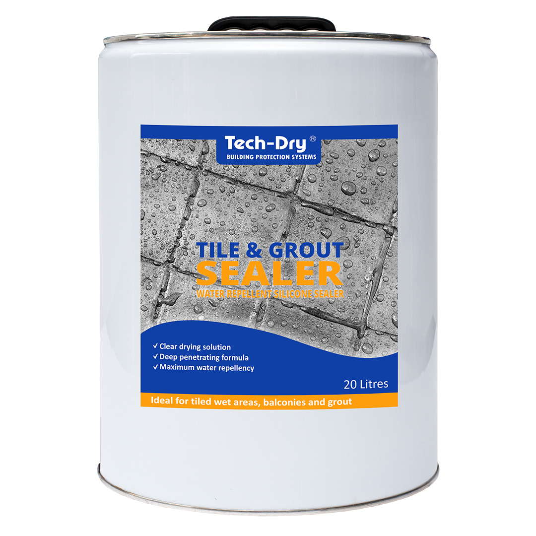 20 litre tech dry tile and grout water repellent silicone sealer