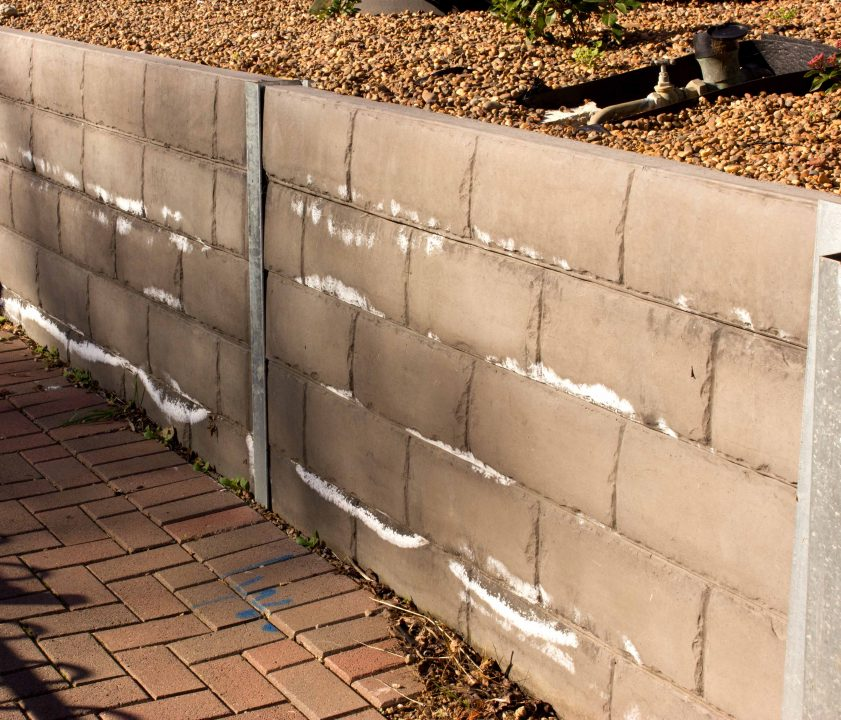 Efflorescence on Retaining Wall