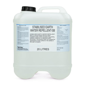 20 litre stabilised earth water repellent solvent based